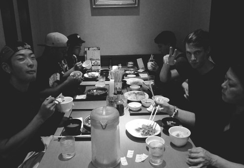 FishAndChipsCrew_Japan2013_Day1Dinner