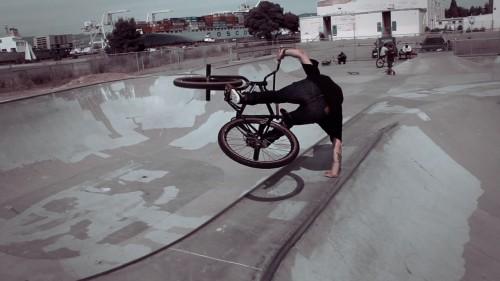 Alameda Skatepark - Mike Schmitt - Handplant
