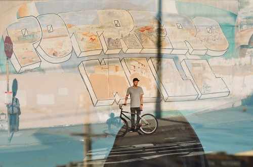 35mm - Double Exposure - Mike Schmitt - TURF Bikes - Potrero Hill