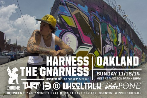 Harness The Gnarness - 2014 Flyer Logos