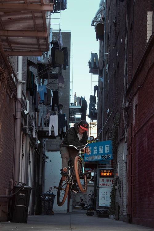 Ed Wonka Laforte - Capone Bikes - Laforte Frame - Alley Way Barspin